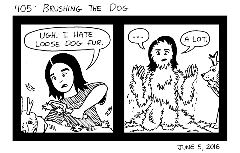 Brushing The Dog