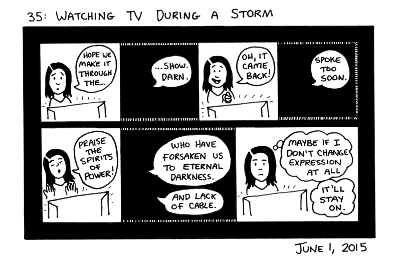 Watching TV During a Storm