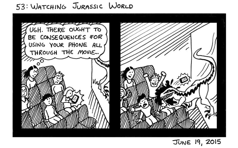Watching Jurassic World