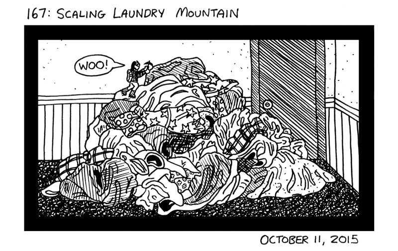 Scaling Laundry Mountain